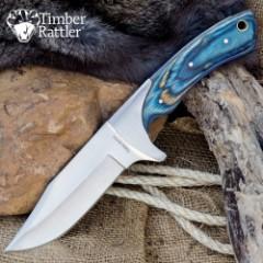 Timber Rattler Blue Pakka Skinning Knife