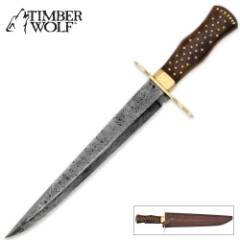 Timber Wolf Middle Ages Damascus Hunting Dagger