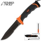 Ultimate Timber Wolf Survival Fixed Blade Knife