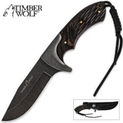 Timber Wolf Eagle Ridge Knife with Sheath