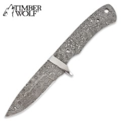 Timber Wolf Build Your Own Custom Damascus Fixed Blade Knife