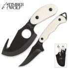 Timber Wolf Two-Piece Hunter Knife Set with Sheath