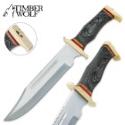 Timber Wolf Black Star Bowie Knife