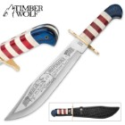 Timber Wolf American Independence Bowie Fixed Blade Knife