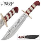 Timber Wolf Limited Edition Christmas 2017 Bowie Knife with Leather Sheath - Only 1,000 Produced