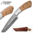 "Timber Wolf ""Gethsemane"" Damascus Tanto Fixed Blade"