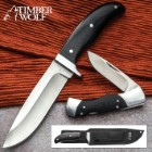 "Timber Wolf ""Black's Fork"" Two-Piece Knife Set with Sheath"