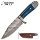 Timber Wolf Blue Bone Hunter Knife