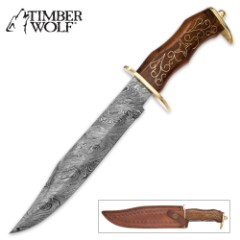 Timber Wolf Trail Rider Bowie Knife