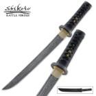 Shikoto Hand Forged Damascus Tanto Sword