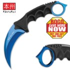 Honshu Karambit with Boot Sheath - Blue - BOGO
