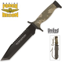 United Cutlery Nightstalkers Don't Quit Tanto Knife Camo