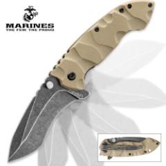USMC Desert Warrior Assisted-Open Folding Knife