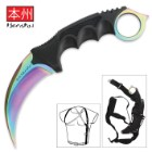 Case Hardened Honshu Karambit With Shoulder Harness