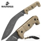 USMC Desert Sand Kukri Machete with Heavy Duty Nylon Sheath