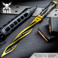 Special Limited Edition Solar Flare Gold M48 Cyclone - 2Cr13 Stainless Steel Blade, Reinforced Nylon Handle, Stainless Steel Guard And Pommel