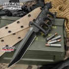 Combat Commander Trench Knife - 1065 High Carbon Steel Blade - Battle Ready Knuckle Knife