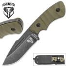 Bushmaster Wilderness Conqueror Fixed Blade Knife with Nylon Leg Sheath