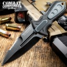 Combat Commander Sub Commander Next Generation Boot Knife - 3Cr13 Stainless Steel Blade, Brass Lanyard Hole - Length 6 1/2""