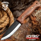 Bushmaster Bushcraft Explorer Fixed Blade Knife - 1095 Carbon Steel Blade, Zebra Wood Handle, Brass Pins And Lanyard Hole - Length 9 5/8""