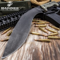 """USMC Fallout Tactical Kukri With Sheath – 3Cr13 Steel Blade, Full-Tang, Grippy G10 Handle, Officially Licensed – Length 16"""""""