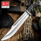 Honshu Conqueror Bowie Knife And Sheath - 7Cr13 Stainless Steel Blade, Grippy TPR Handle, Stainless Steel Guard - Length 16 1/2""
