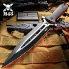 M48 Talon Dagger With Sheath - Cast 2Cr13 Stainless Steel Blade, G10 Handle, Paracord Lanyard - Length 11 5/8""