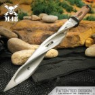 M48 Battle Scarred Series Olive Drab Cyclone - 2Cr13 Stainless Steel Blade, Reinforced Nylon Handle, Stainless Steel Guard