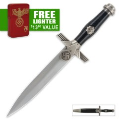 German Historical WWII Dagger and Free Lighter