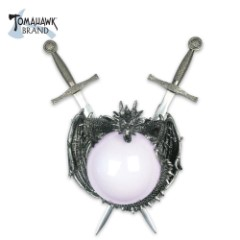 Double Knights Dagger with Dragon and Crystal Ball