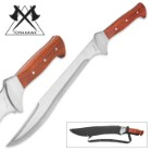 Tomahawk Big Bounty Hunter Full-Tang Machete With Sheath