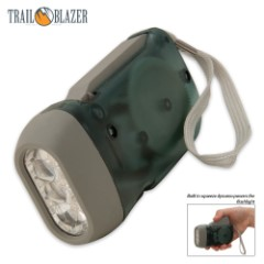 Trailblazer Three-LED Dynamo Hand-Crank Flashlight