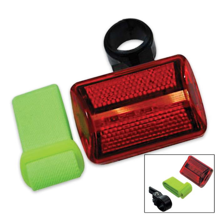 safety flashing strobe light 5 led red running cyclists hiking. Black Bedroom Furniture Sets. Home Design Ideas