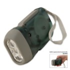 3-LED Dynamo Hand-Crank Flashlight