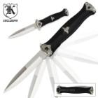 German SS Leader Black Assisted-Open Folding Knife