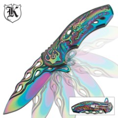 Rainbow Flying Dragon Assisted-Open Folding Knife