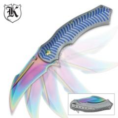 Rainbow Reptile Assisted Opening Folding Pocket Knife