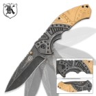 Gears and Gold Steampunk Pocket Knife