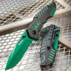 Matrix Assisted Opening Rescue Pocket Knife - Electric Green