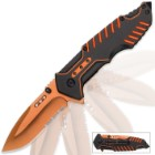 Matrix Assisted Opening Rescue Pocket Knife - Electric Orange