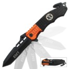 Assisted Opening First Responder Tanto Rescue Pocket Knife