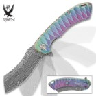 Rainbow Raven Samurai Razor Pocket Knife
