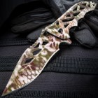 SOA Vector Camouflage Pocket Knife - Stainless Steel Blade, ABS Handle Scales, Assisted Opening, Thumbstud, Jimping