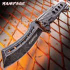 Rampage Stonewashed Speedster Assisted Opening Pocket Knife - Stainless Steel Blade, Stainless Steel Handle, Pocket Clip