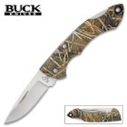 Buck Nano Bantam Muddy Water Camo Pocket Knife – High Carbon Steel Blade, Glass Reinforced Nylon Handle, Lockback Design, Lanyard Hole