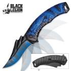 Black Legion Blue Dragonfire Assisted Opening Pocket Knife