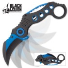 Black Legion Blue Justice Karambit Assisted Opening Pocket Knife