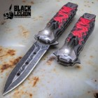 Black Legion Red Dragon Flashlight Pocket Knife