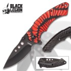 Black Legion Primordial Heat Pocket Knife - Stainless Steel Blade, Assisted Opening, Anodized Aluminum Handle, Pocket Clip