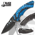 Black Legion Primordial Storm Pocket Knife – Stainless Steel Blade, Assisted Opening, Anodized Aluminum Handle, Pocket Clip